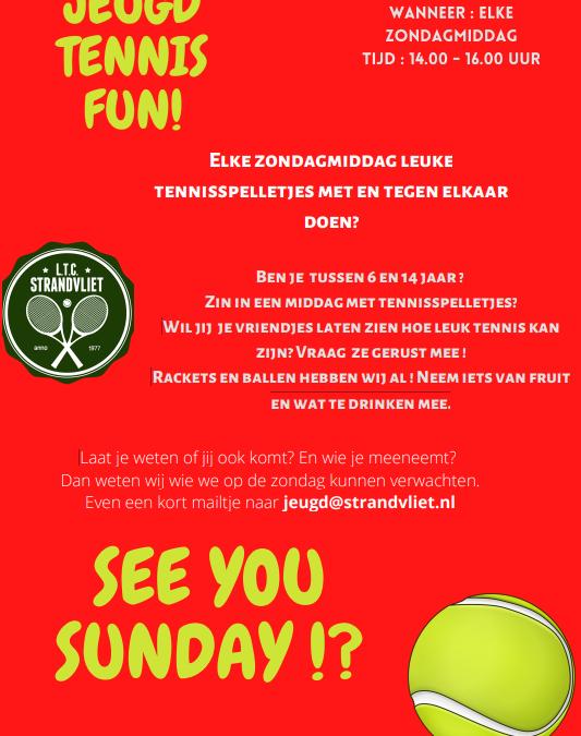 Zin in een zondagmiddag met tennisspelletjes?